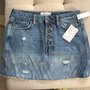 Free People Jean Skirt 💥